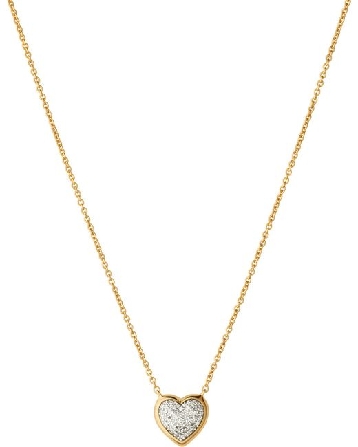Links of London | Metallic Diamond Essentials 18ct Rose-gold Pave Necklace | Lyst