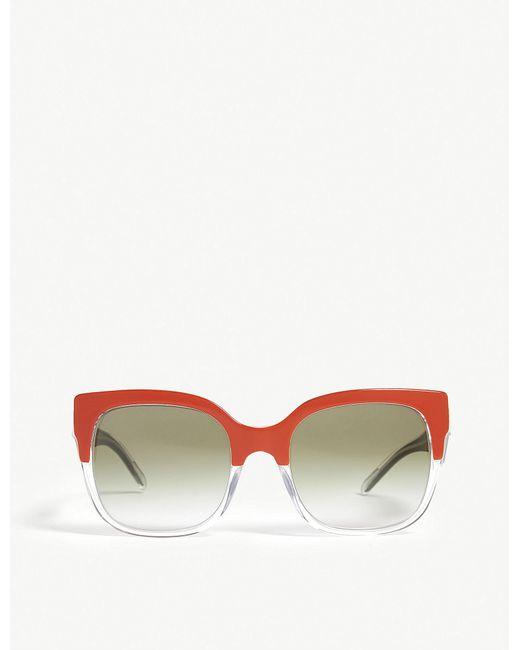 f0c6897968a Lyst - Burberry Cat-eye Sunglasses in Orange