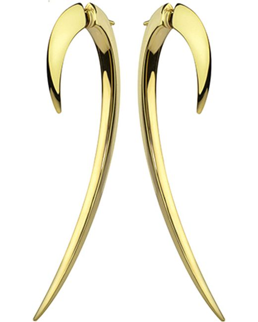 Shaun Leane - Metallic Tusk Yellow Gold Vermeil And Diamond Earrings - Lyst