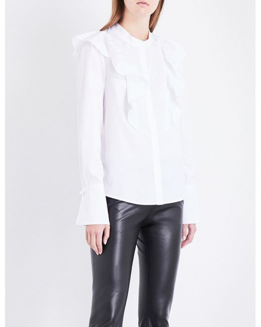 Great Deals Sale Online Get To Buy Claudie Pierlot Woman Printed Cotton-poplin Top White Size 40 Claudie Pierlot UkikL