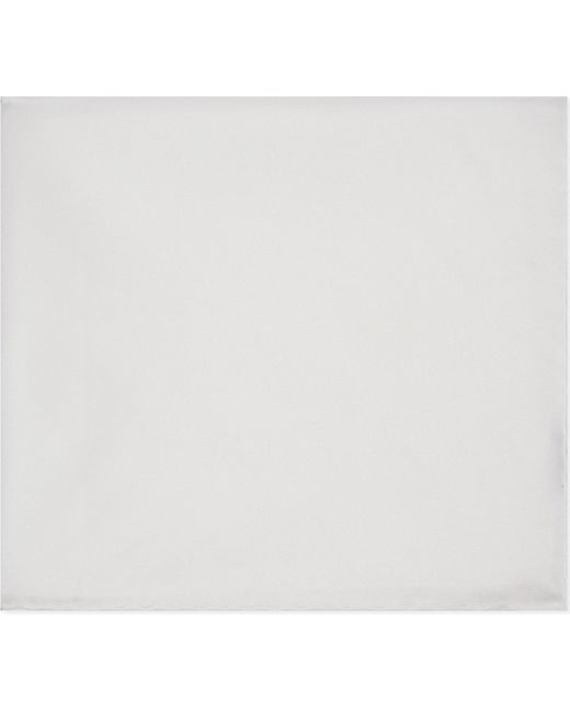 Canali - White Silk Pocket Square - For Men for Men - Lyst