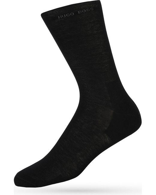 BOSS - Black Hugo Logo Socks for Men - Lyst