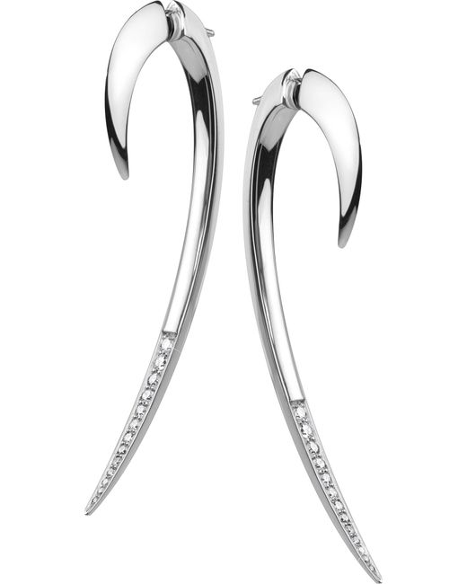 Shaun Leane - Metallic Silver And Diamond Hook Earring - Lyst
