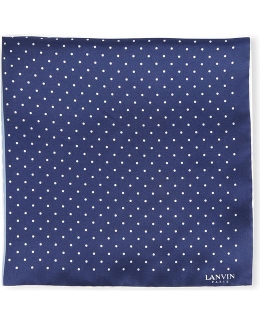 Lanvin - Blue Polka Dot Pocket Square for Men - Lyst