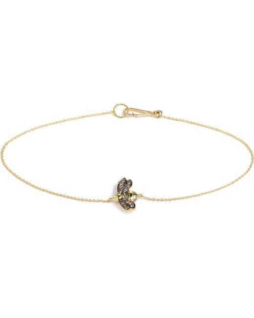Annoushka - Metallic Love Diamonds 18ct Yellow-gold Bee Bracelet - Lyst
