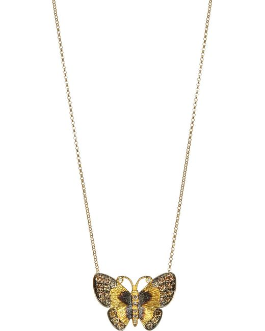 Annoushka - Yellow 18ct Gold And Brown Diamond Butterfly Necklace - Lyst
