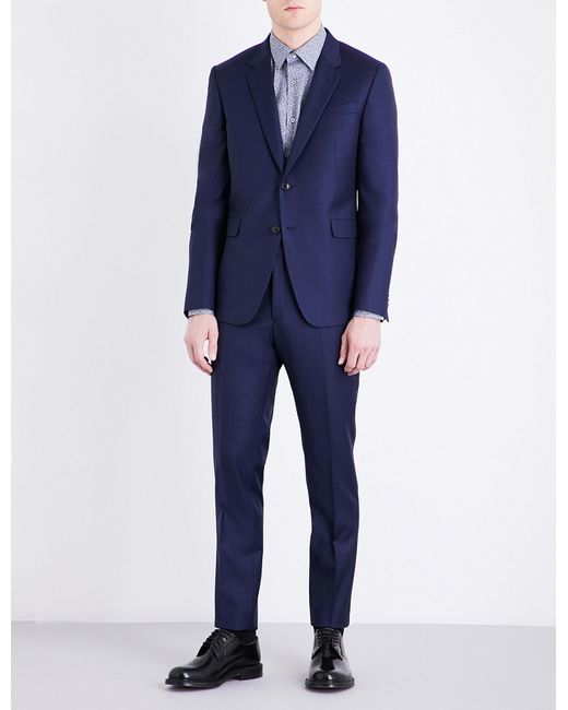 Paul Smith | Blue Kensington-fit Wool Suit for Men | Lyst