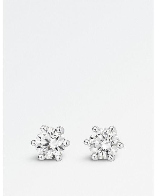 BUCHERER JEWELLERY - Metallic 18k White Gold Diamond Earrings - Lyst
