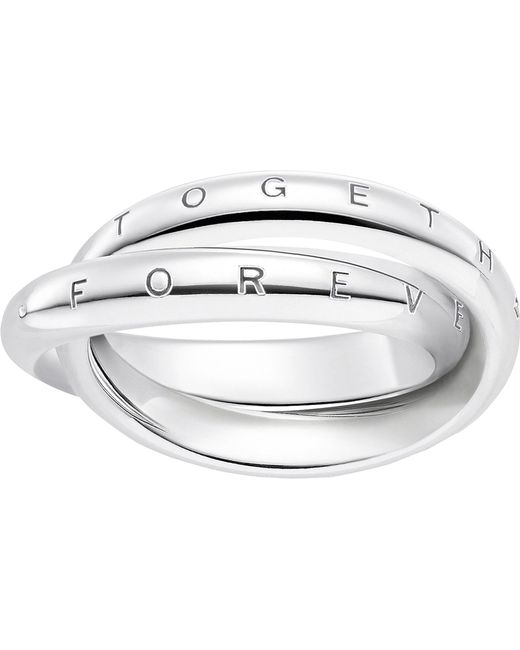 Thomas Sabo - Metallic Forever Together Sterling Silver Ring - Lyst