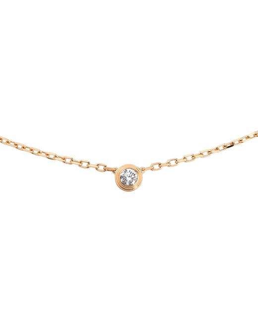 Cartier - Diamants Légers De 18ct Pink-gold And Diamond Necklace - Lyst