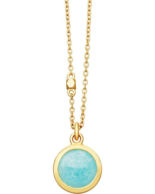 Astley Clarke - Metallic Stilla 18ct Gold-plated Amazonite Pendant Necklace - Lyst