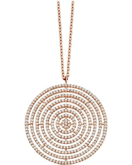 Astley Clarke | Metallic Large Icon Aura 14ct Rose-gold And Diamond Pendant Necklace | Lyst