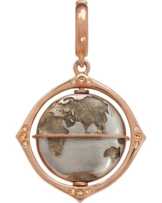 Annoushka - Metallic Mythology Globe 18ct Rose-gold And Diamond Charm - Lyst