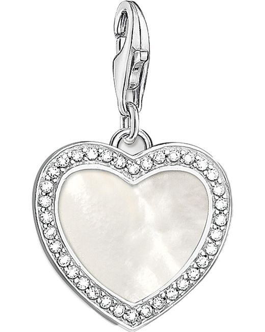 Thomas Sabo - Metallic Charm Club With Love Sterling Silver And Mother-of-pearl Charm - Lyst