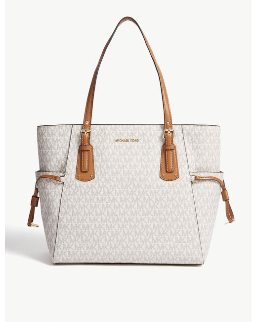 MICHAEL Michael Kors Multicolor Grained Leather Voyager Tote Bag