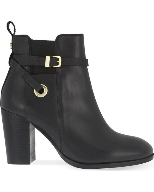 Carvela Kurt Geiger | Black Stacey Leather Ankle Boots | Lyst