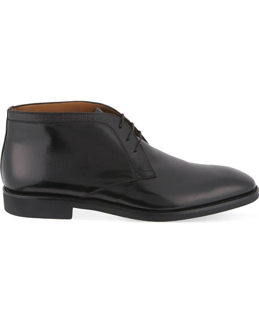 Stemar - Black Trim 3 Eye Chukka Leather Boots for Men - Lyst
