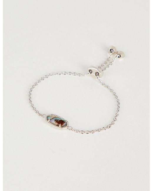 Kendra Scott - Metallic Elaina Rhodium-plated Abalone Shell Bracelet - Lyst
