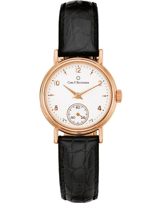 CARL F BUCHERER - Metallic 00.10306.03.26.01 Adamavi Rose-gold Sapphire Crystal And Leather Watch for Men - Lyst