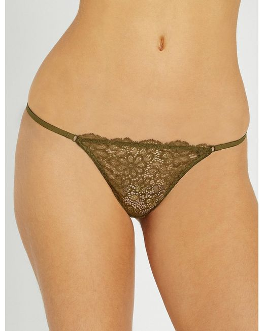 Les Girls, Les Boys - Natural Daisy Lace Thong - Lyst