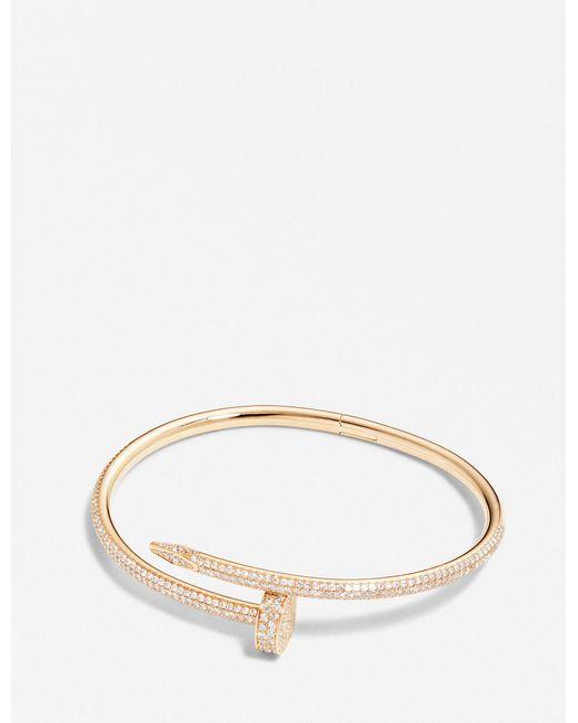 Cartier - Juste Un Clou 18ct Pink-gold And Diamond Bracelet - Lyst