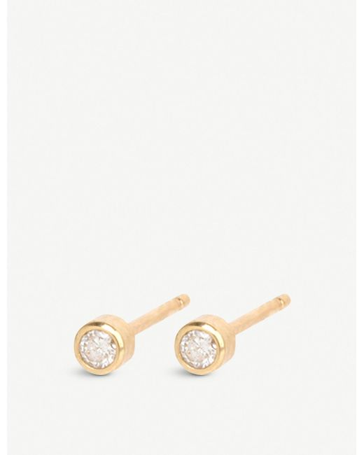 The Alkemistry - Metallic Zoë Chicco 14ct Yellow-gold And Diamond Stud Earrings - Lyst