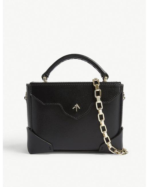 MANU Atelier - Black Micro Bold Leather Shoulder Bag - Lyst e65c6f67838ec