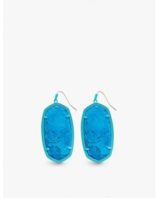 Kendra Scott - Blue Danielle Aqua-plated And Aqua Howlite Earrings - Lyst