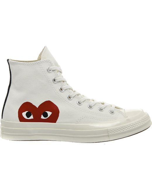 Play Comme des Garçons - White Play Chuck Taylor Canvas High-Top Sneakers - Lyst