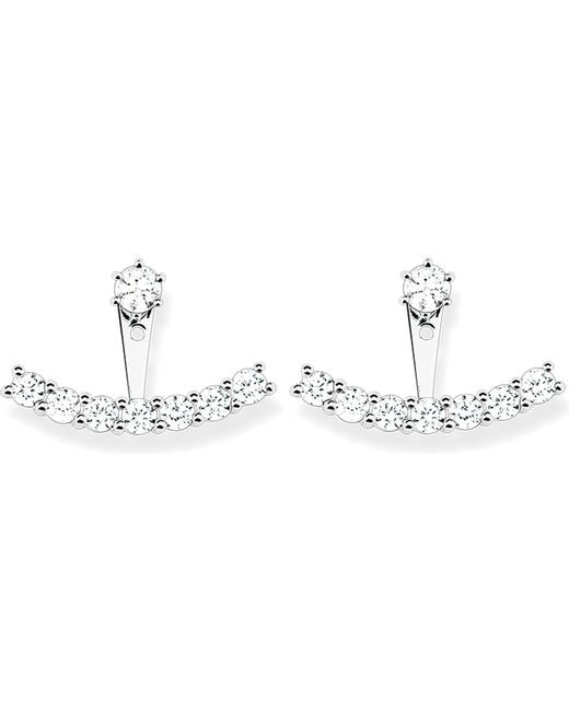 Thomas Sabo | Metallic Sterling Silver And White Zirconia Ear Jackets | Lyst