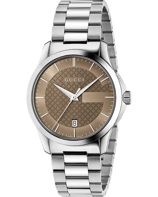 fbe81587d15 Gucci Ya126445 G-timeless Stainless Steel Watch in Metallic - Lyst