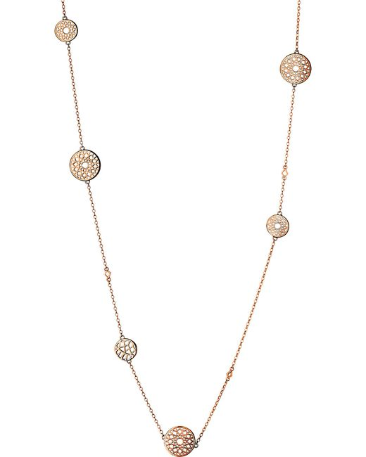 Links of London | Metallic Timeless 18ct Rose-gold Vermeil Station Necklace | Lyst