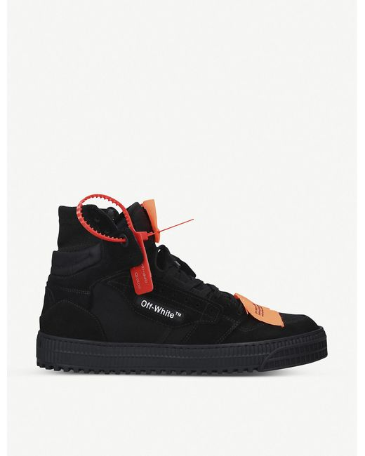 Off-White c/o Virgil Abloh Black Low 3.0 Mix Leather High Top Sneakers for men