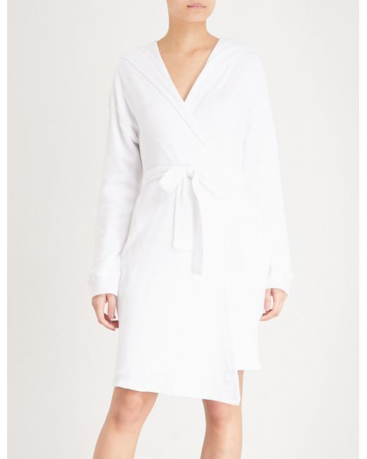 Lyst - Skin Avedon Cotton Dressing Gown in White
