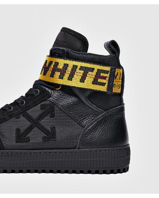 f9ba384d95cf Off-White c o Virgil Abloh Black Suede And Leather Hi-top Trainers ...
