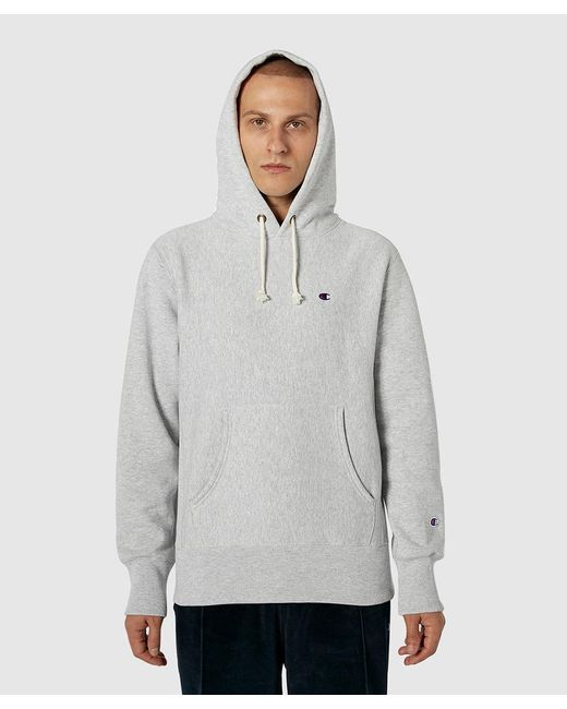 0961da831217 ... Champion - Gray Classic Pullover Hoodie for Men - Lyst ...