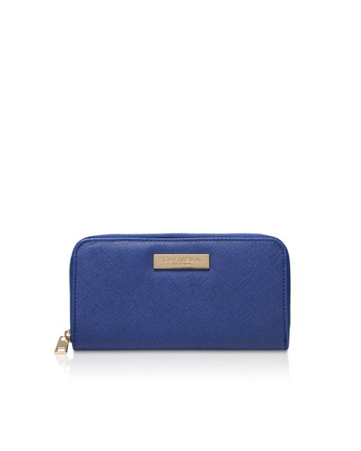 Carvela Kurt Geiger - Blue Alis Zip Around Purse - Lyst