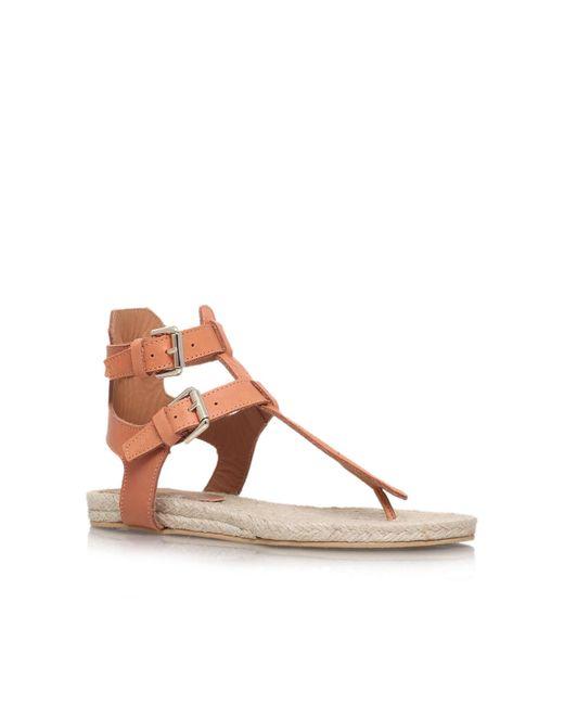 Kurt Geiger - Brown Marla Flat Sandals - Lyst