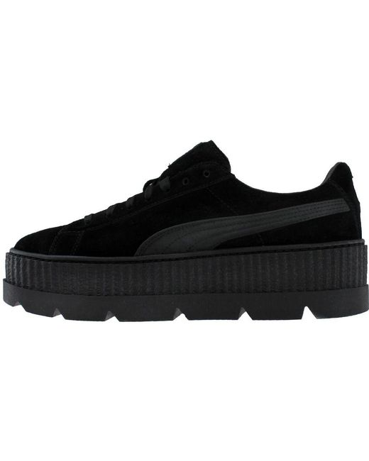 053698f418d ... PUMA - Black Fenty By Rihanna Suede Cleated Creeper for Men - Lyst ...