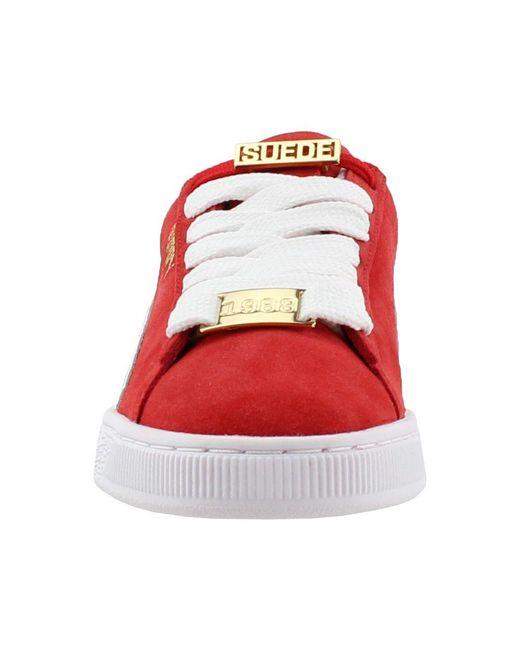 size 40 d9867 3eb2f Men's Red Suede Classic Bboy Fabulous