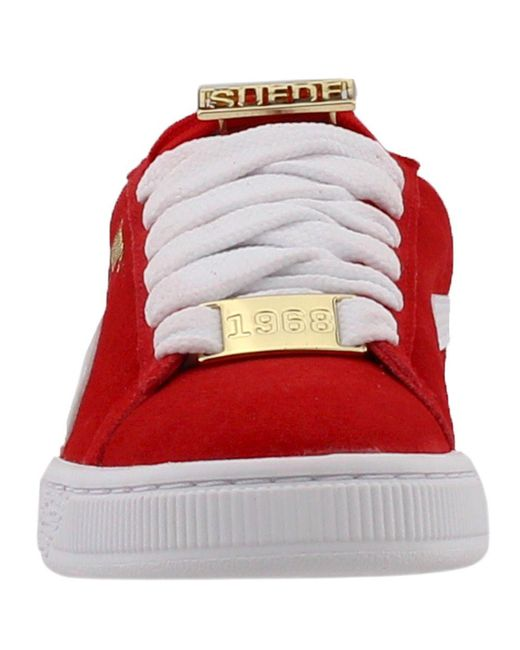 4e380abb9e4d4c ... PUMA - Red Suede Classic Bboy Fabulous Junior for Men - Lyst ...