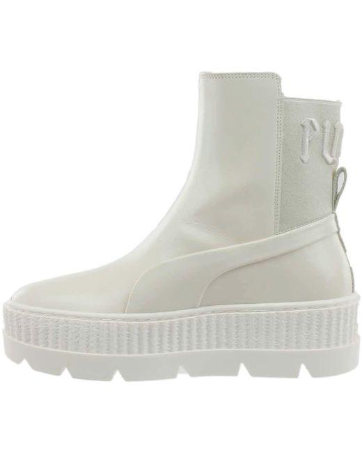 d9f29749342d7b ... PUMA - White Fenty By Rihanna Chelsea Sneaker Boot - Lyst ...