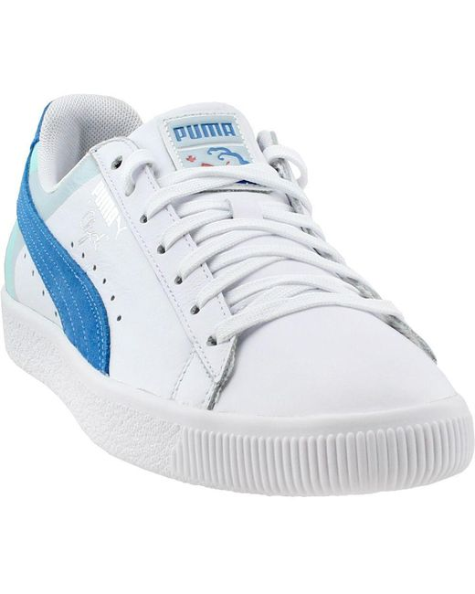 0c35b6cc095b PUMA - White Pink Dolphin Clyde for Men - Lyst ...