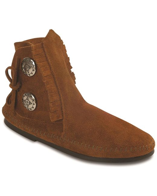 Minnetonka | Brown Two Button Boot | Lyst