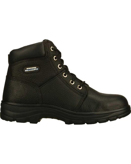f44c8863dd1 Lyst - Skechers Work Relaxed Fit Workshire Steel Toe in Black for ...