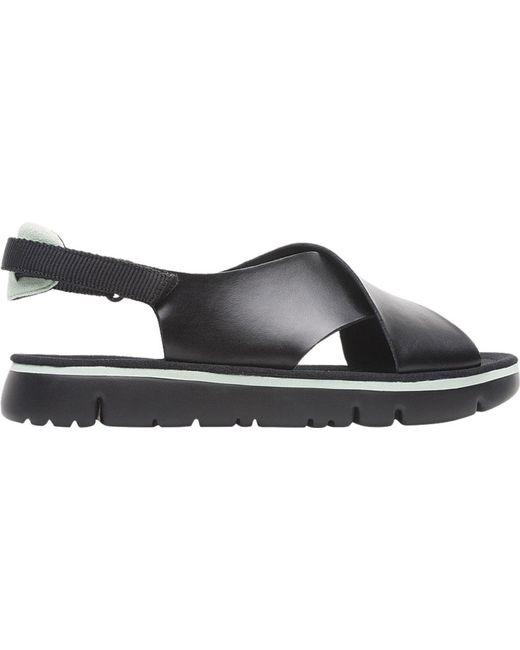 9a3393e3fcda ... Camper - Black Oruga Platform Sandal - Lyst ...