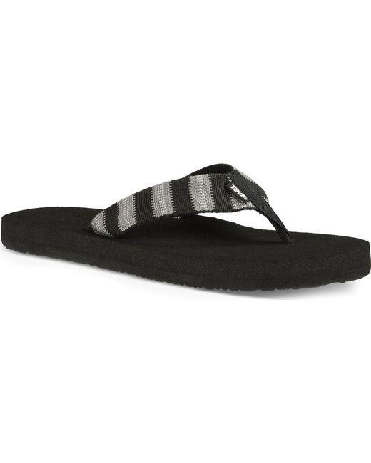 da17afbd39cf Teva - Black Mush Ii Flip Flop for Men - Lyst ...