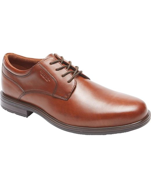 Rockport - Brown Essential Details Ii Plain Toe Oxford for Men - Lyst