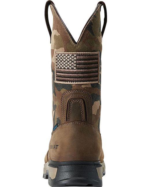 f7755f6d2c7 Men's Brown Rebar Flex Western Patriot H2o Work Boot