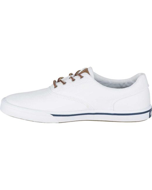 e974f6222469 ... Sperry Top-Sider - White Striper Ii Cvo Washed Sneaker for Men - Lyst  ...